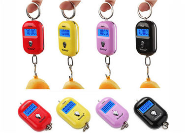 Cina Merah Pink Kuning Mini Portable Elektronik Luggage Scale 25 Kg Colorful Gift Items pemasok