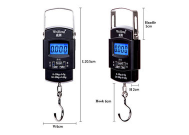 Fleksibel Menangani Hanging Gram Scale, Blue Backlit Hanging Weight Scale